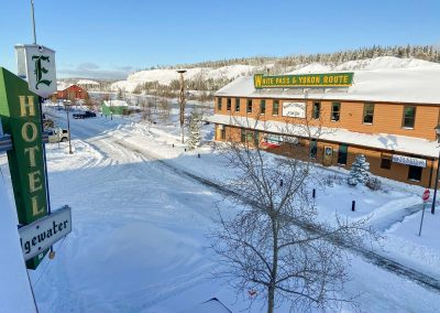 Downtown Whitehorse Hotel in the Winter